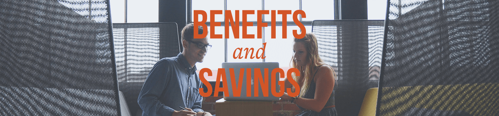 benefits and savings slider image